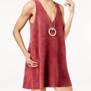Free People Red Suede Dress M
